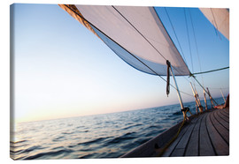 Canvas print  Sailing to the sunrise