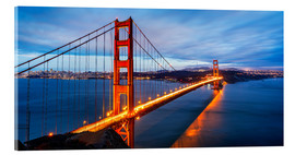Acrylic glass  Golden Gate Bridge in San Francisco