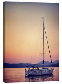 Canvas print  Romantic date on the water