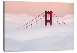 Canvas print  Golden Gate Bridge in the clouds