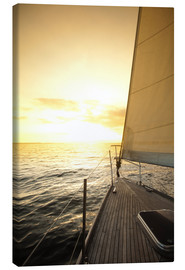 Canvas print  Sailboat in the open sea
