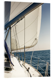 Acrylic print  White sails and the open sea