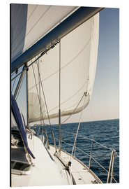 Aluminium print  White sails and the open sea