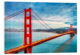 Acrylic print  The Golden Gate