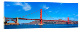 Acrylic print  panoramic view of Golden Gate Bridge