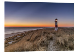 Acrylic glass  Sylt island - Lighthouse Sylt Ost (Sunrise) - Achim Thomae