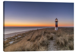 Canvas print  Sylt island - Lighthouse Sylt Ost (Sunrise) - Achim Thomae
