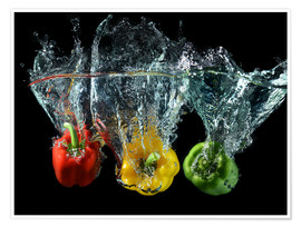 Premium poster  Peppers splash