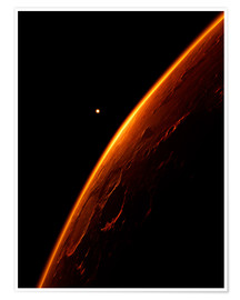 Premium poster  The red planet