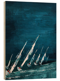 Wood print  Sailboats, abstract - Gerhard Kraus