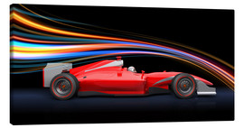 Canvas print  Aerodynamics - Formula 1 cars