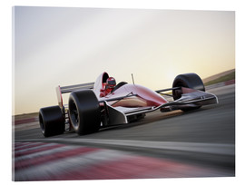 Acrylic print  F1 racing car in motion