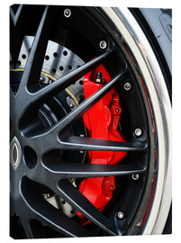 Canvas print  Red ceramic brakes