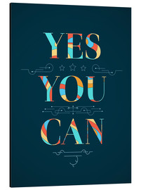 Aluminium print  Yes you can - Typobox