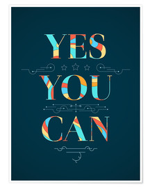 Premium poster  Yes you can - Typobox