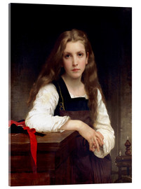 Acrylic print  The small spinner - William Adolphe Bouguereau