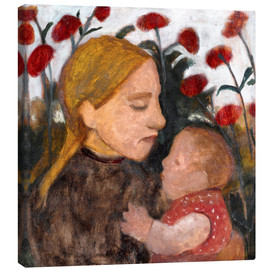 Canvas print  Young woman with child - Paula Modersohn-Becker