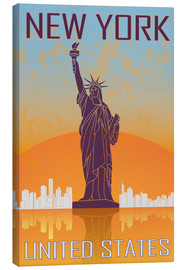 Canvas print  New York - Statue of Liberty