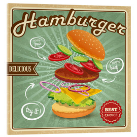 Acrylic print  Delicious Hamburger