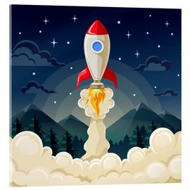 Acrylic print  Rocket take-off - Kidz Collection