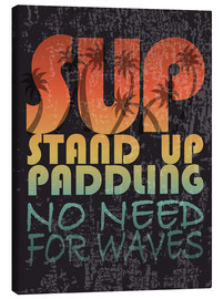 Canvas print  Stand up paddling