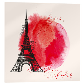 Acrylic print  Paris splash