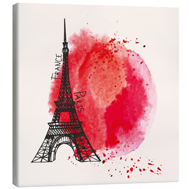 Canvas print  Paris splash