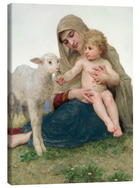 Canvas print  Virgin with lamb - William Adolphe Bouguereau