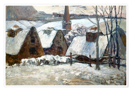 Premium poster Breton Village in winter