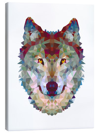 Canvas print  Polygon wolf