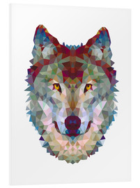 Foam board print  Polygon wolf