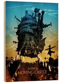 Wood print  Howl's Moving Castle - Albert Cagnef