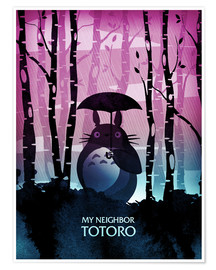 Poster  My neighbor Totoro - Albert Cagnef
