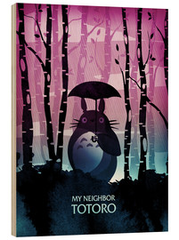 Wood print  My Neighbor Totoro - Albert Cagnef