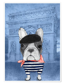 Premium poster  Frenchie With Arc De Triomphe - Barruf