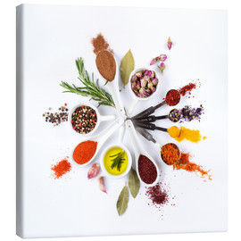 Canvas print  Spice and herb'clock