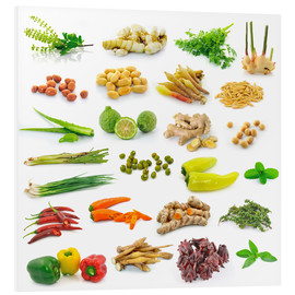 Foam board print  Vegetable and herb collection