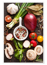 Premium poster  Ingredients for dinner