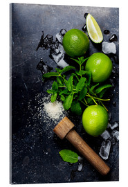 Acrylic print  Mojito ingredients
