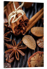 Acrylic print  winter spices