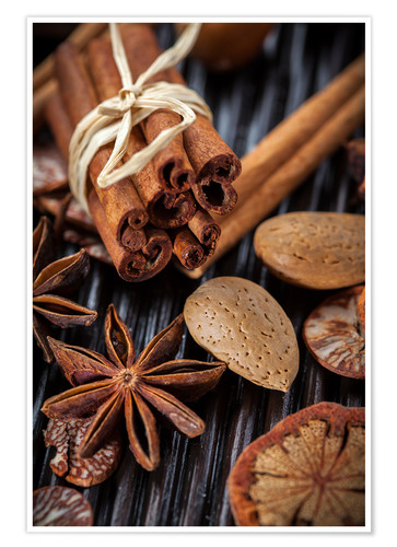 Premium poster winter spices