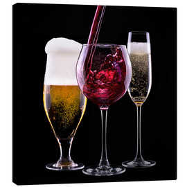 Canvas  drinks - beer, wine and champagne