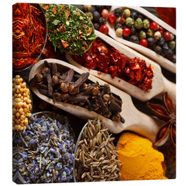 Canvas print  Colorful Spices and Herbs