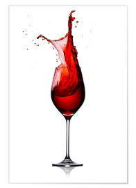Poster  Red Wine Glass