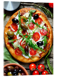 Acrylic print  Fresh, homemade pizza