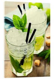Acrylic print  Mojito Cocktail with Ingredients
