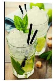 Aluminium print  Mojito Cocktail with Ingredients