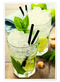 Premium poster Mojito cocktail with ingredients