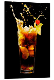 Acrylic print  Cuba Libre Cocktail with splash