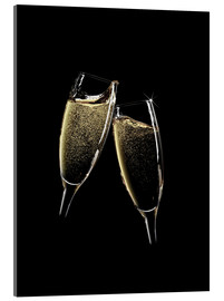 Acrylic print  Cheers! Two Champagne Glasses
